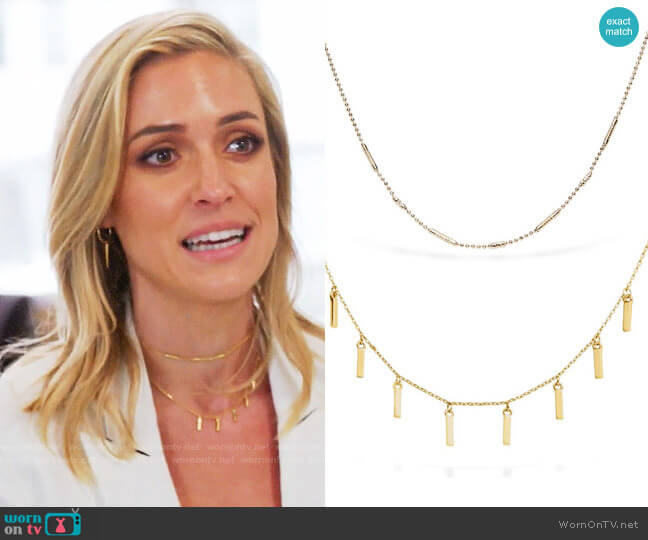 Uncommon James Ready to Mingle and Duchess Necklaces worn by Kristin Cavallari on Very Cavallari