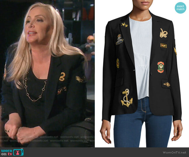 Classic Patch Jacket by Veronica Beard worn by Shannon Beador on The Real Housewives of Orange County