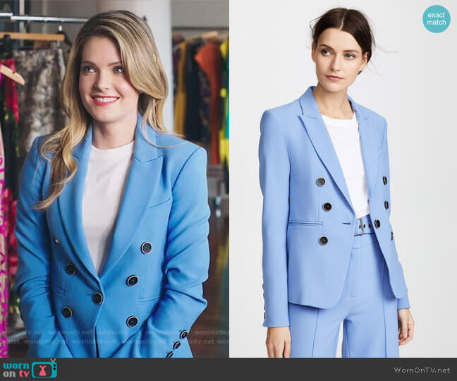 Colson Blazer by Veronica Beard worn by Sutton (Meghann Fahy) on The Bold Type