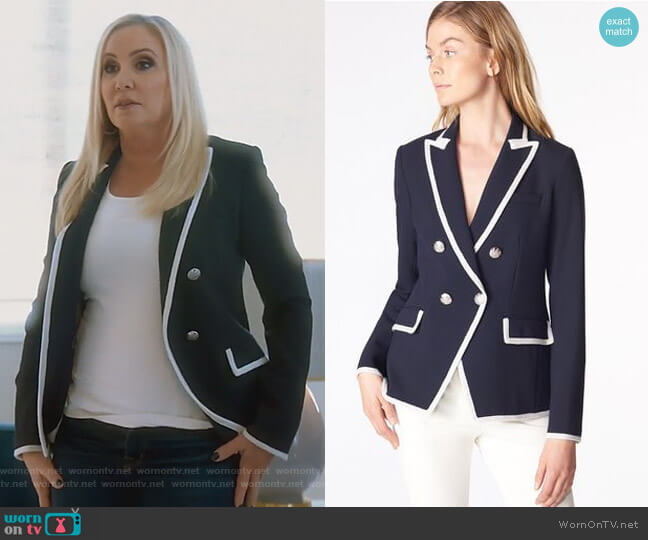 Harriet Jacket by Veronica Beard worn by Shannon Beador  on The Real Housewives of Orange County