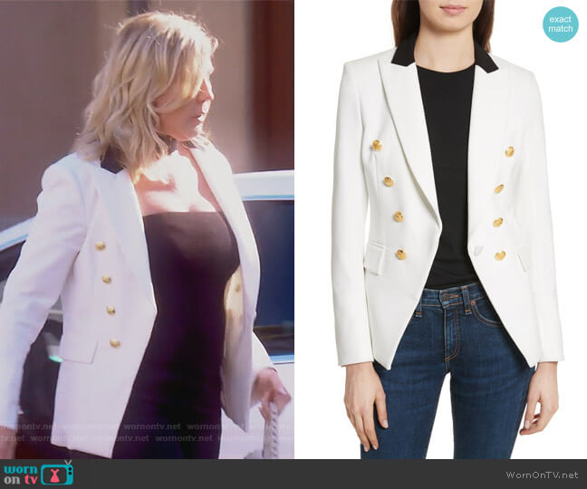Jack Riding Jacket by Veronica Beard worn by Vicki Gunvalson  on The Real Housewives of Orange County