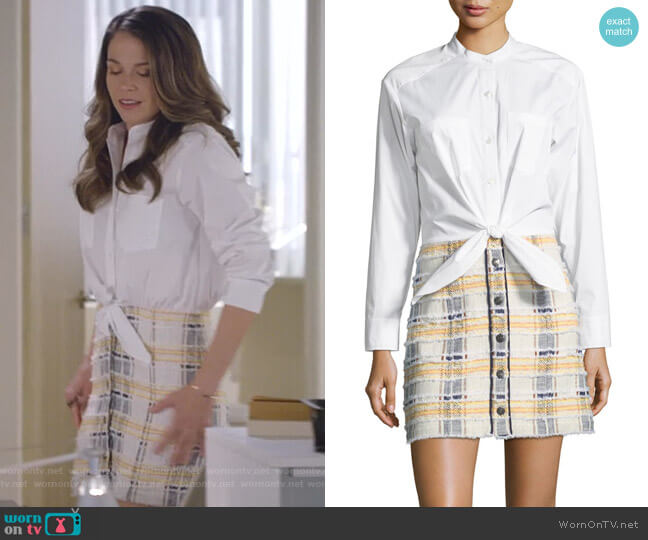 Aurelia Combo Dress by Veronica Beard worn by Liza Miller (Sutton Foster) on Younger