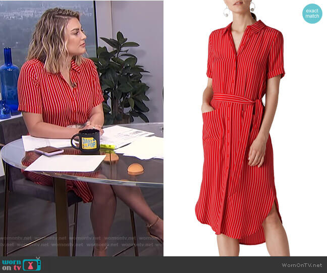 Montana Stripe Shirtdress by Whistles worn by Carissa Loethen Culiner  on E! News