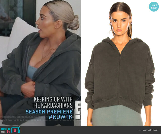 Season 6 Zip Up Hoodie by Yeezy worn by Kim Kardashian  on Keeping Up with the Kardashians