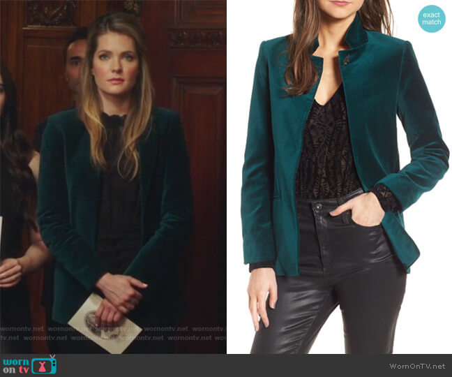 Volly Velours Blazer by Zadig and Voltaire worn by Sutton (Meghann Fahy) on The Bold Type