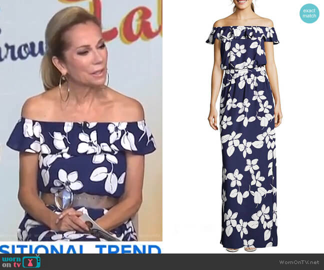 Simple Delight Maxi Dress by Adrianna Papell worn by Kathie Lee Gifford on Today