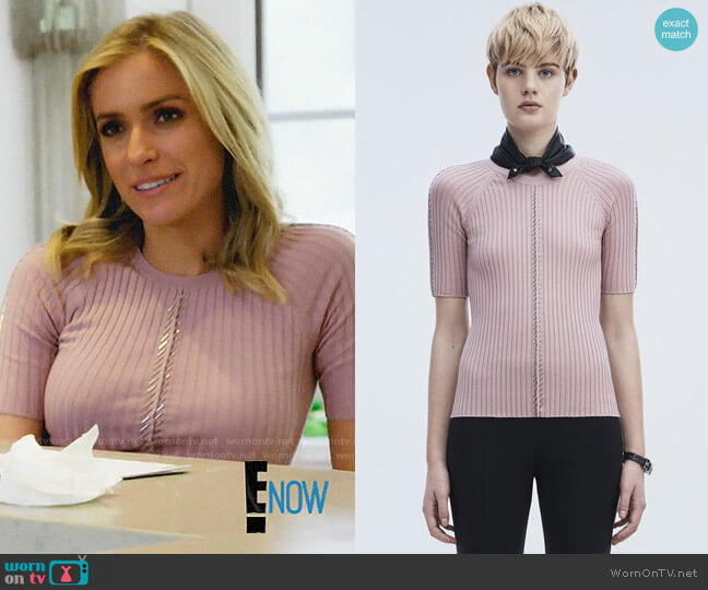 Alexander Wang Pierced Short Sleeve Top worn by Kristin Cavallari on Very Cavallari
