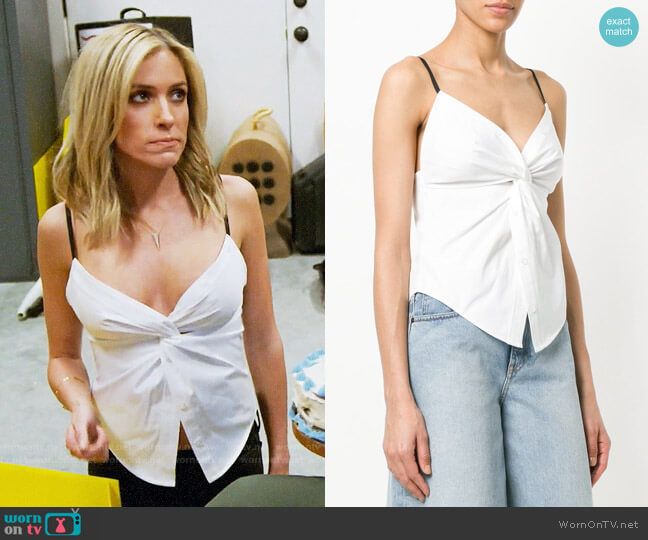 Alexander Wang Twisted Front Cami worn by Kristin Cavallari on Very Cavallari