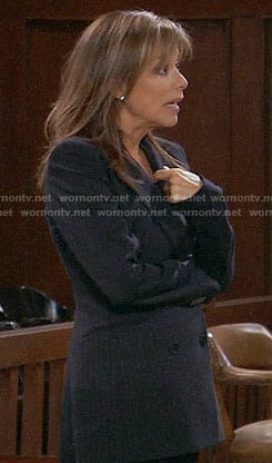 Alexis's pinstriped blazer on General Hospital