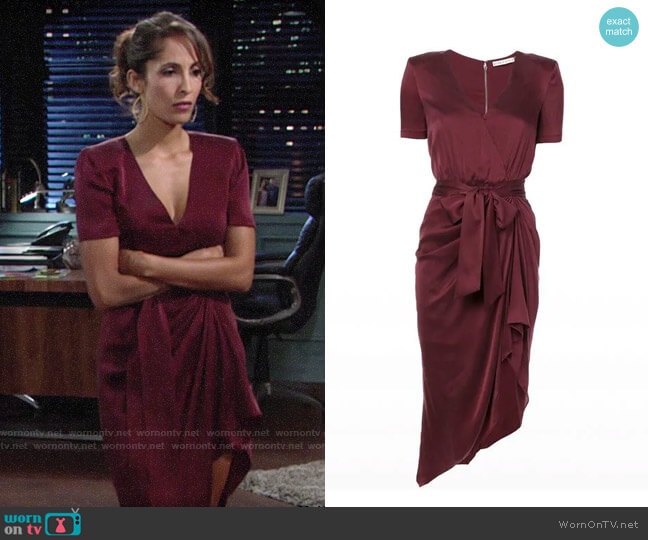 Alice + Olivia Alana Dress worn by Christel Khalil on The Young & the Restless