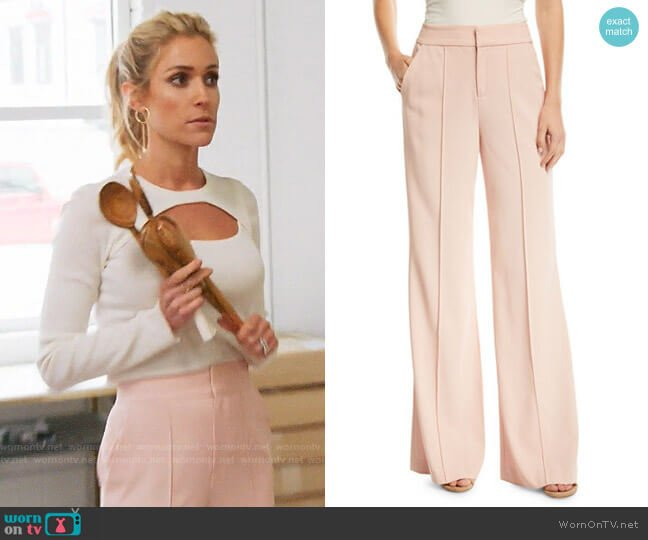Alice + Olivia Dylan Pants worn by Kristin Cavallari  on Very Cavallari