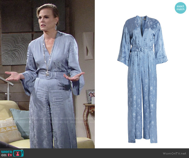 Alice + Olivia Holland Jumpsuit worn by Gina Tognoni on The Young & the Restless