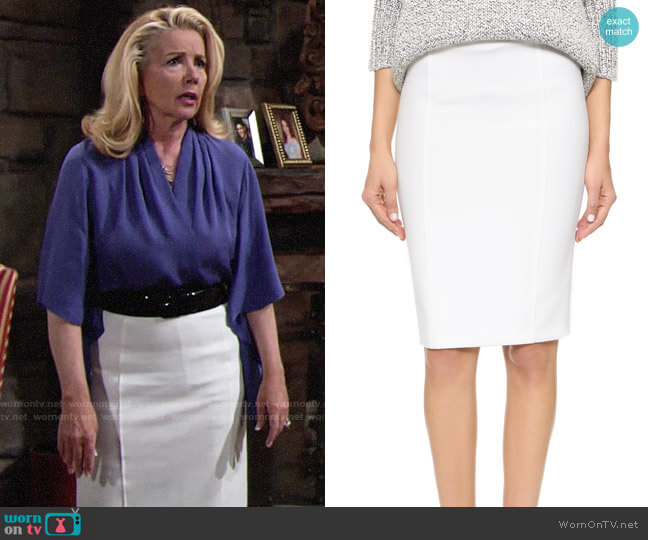 Alice + Olivia Jarret Skirt worn by Melody Thomas-Scott on The Young & the Restless