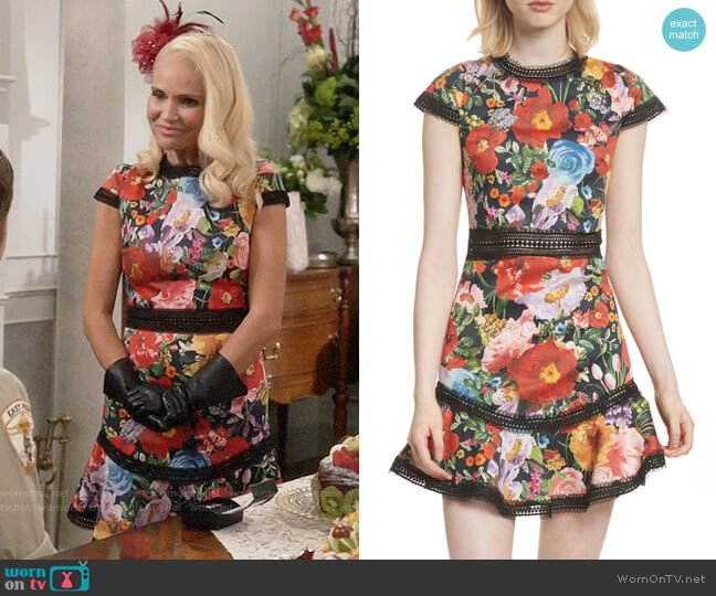Alice + Olivia Rapunzel Dress worn by Lavinia Peck-Foster (Kristin Chenoweth) on Trial & Error