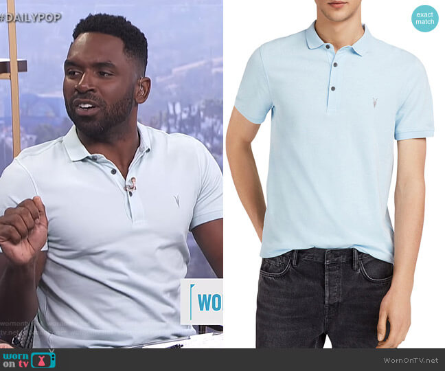 Reform Slim Fit Polo by All Saints worn by Justin Sylvester (Justin Sylvester) on E! News