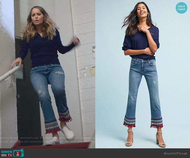 Pilcro Jeans by Anthropologie worn by Debby Ryan on Insatiable