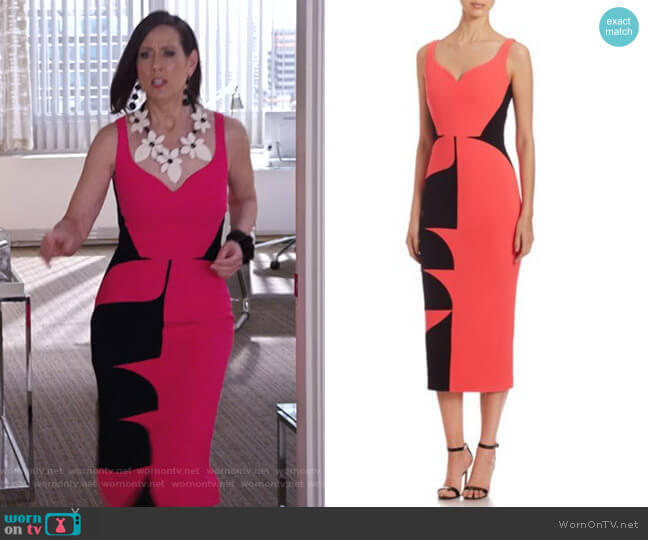 Colorblock Sheath Dress by Antonio Berardi worn by Diana Trout (Miriam Shor) on Younger