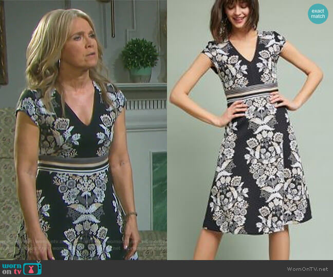 Soiree Dress by Anthropologie worn by Jennifer Horton (Melissa Reeves) on Days of our Lives
