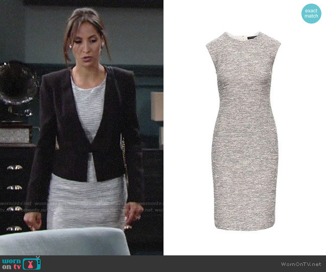 Banana Republic Bouclé Sheath Dress worn by Christel Khalil on The Young & the Restless