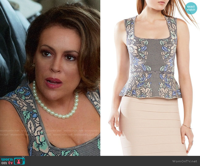 Bcbgmaxazria Alonya Top worn by Coralee Armstrong (Alyssa Milano) on Insatiable