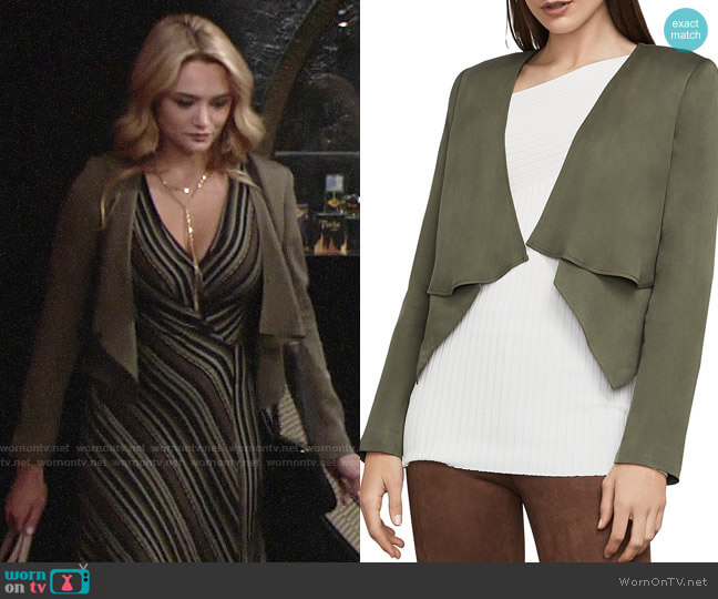 Bcbgmaxazria Ania Jacket worn by Summer Newman (Hunter King) on The Young & the Restless