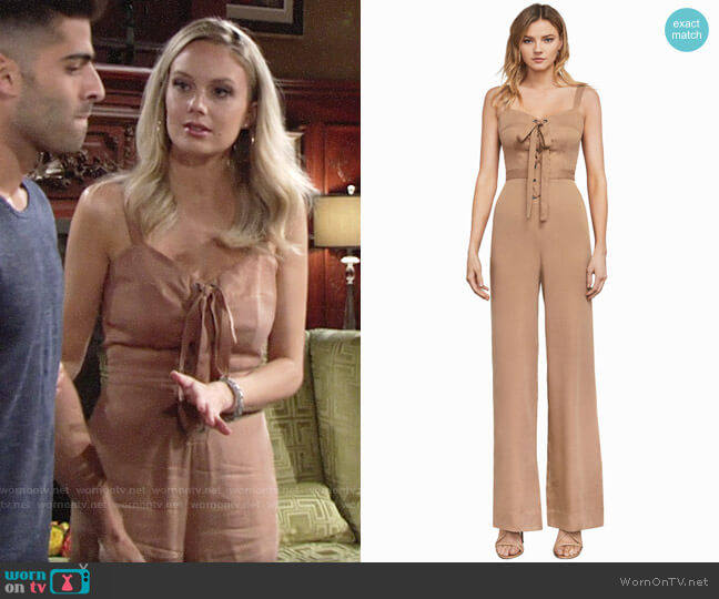 Bcbgmaxazria Becka Jumpsuit worn by Abby Newman (Melissa Ordway) on The Young & the Restless