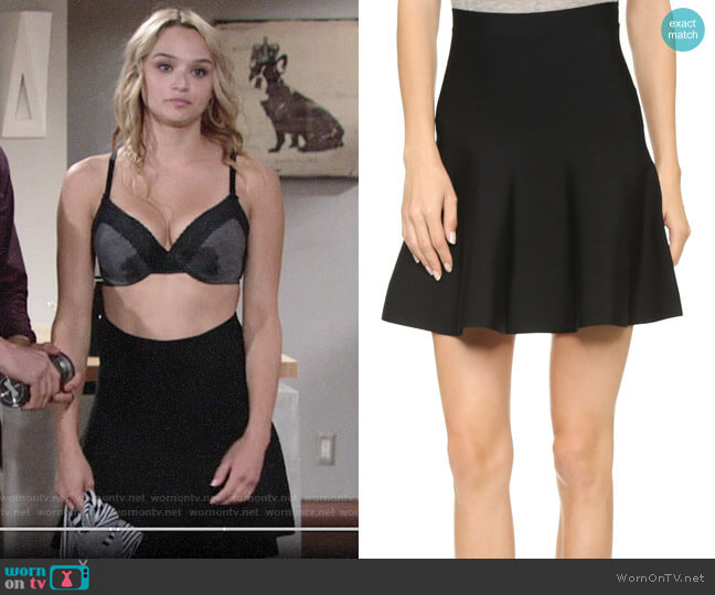 Bcbgmaxazria Ingrid Skirt worn by Summer Newman (Hunter King) on The Young & the Restless