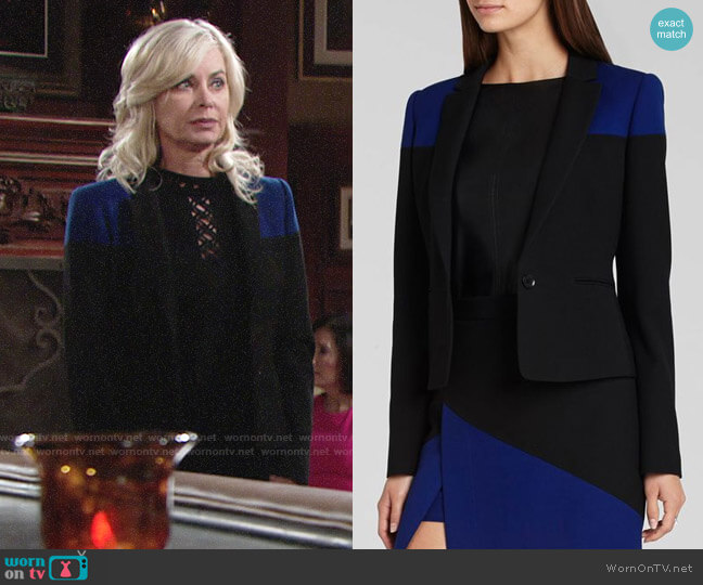 Bcbgmaxazria Oscar Color Block Blazer worn by Ashley Abbott (Eileen Davidson) on The Young & the Restless