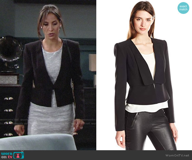 Bcbgmaxazria Pen Blazer worn by Christel Khalil on The Young & the Restless