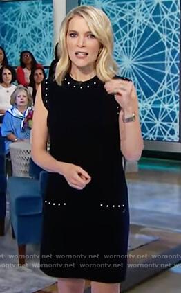Megyn's black pearl embellished dress on Megyn Kelly Today