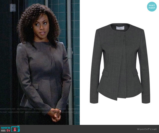 BOSS Jadela Jacket worn by Briana Nicole Henry on General Hospital