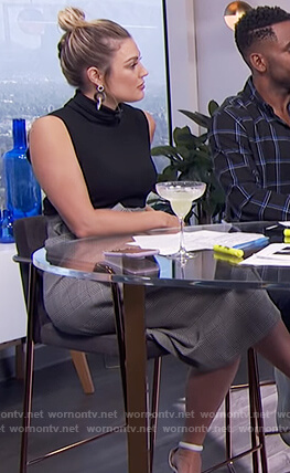 Carissa's plaid bow front skirt on E! News Daily Pop