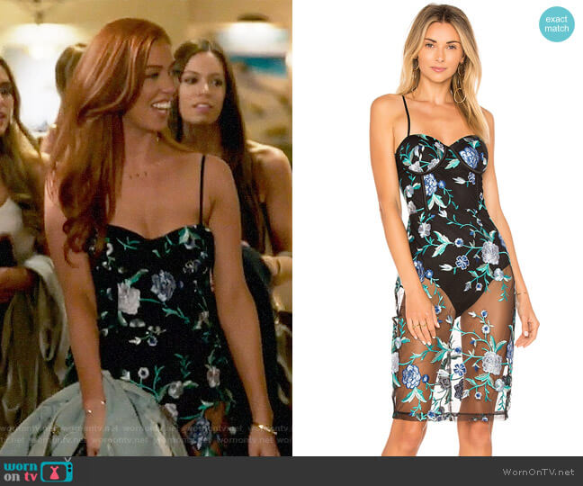 By The Way Lydia Embroidered Corset Dress worn by Shannon Ford  on Very Cavallari