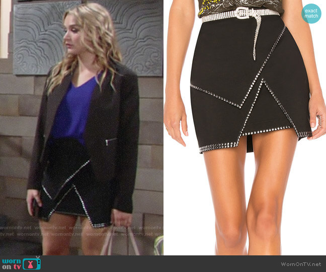 by the way Carly Studded Mini Skirt worn by Summer Newman (Hunter King) on The Young & the Restless