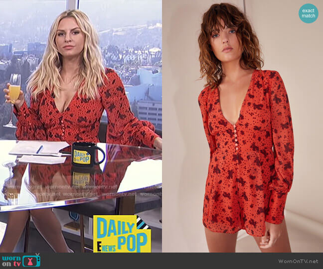 Sweet Thing Playsuit by C/Meo Collective worn by Morgan Stewart (Morgan Stewart) on E! News