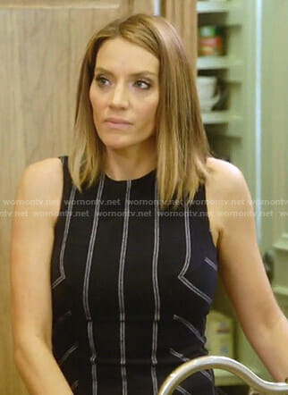 Cary's striped peplum top on The Real Housewives of Dallas