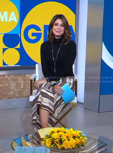 Cecilia's striped cropped pants on Good Morning America