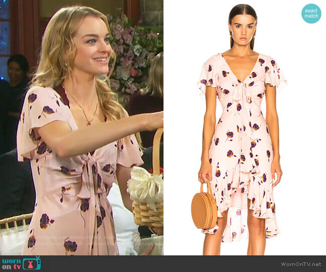 Mateo Dress by Cinq a Sept worn by Olivia Rose Keegan on Days of our Lives