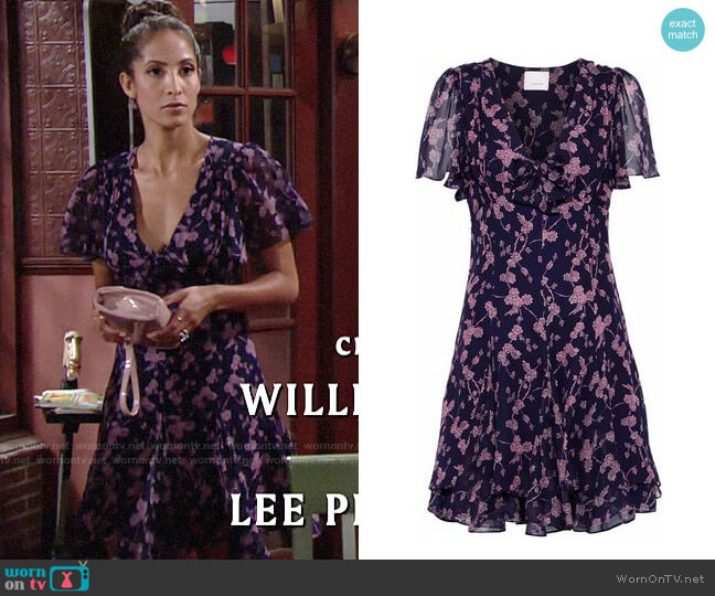 Cinq a Sept Annali Dress worn by Lily Winters (Christel Khalil) on The Young & the Restless