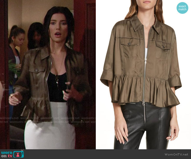 Cinq a Sept Helene Jacket worn by Jacqueline MacInnes Wood on The Bold & the Beautiful