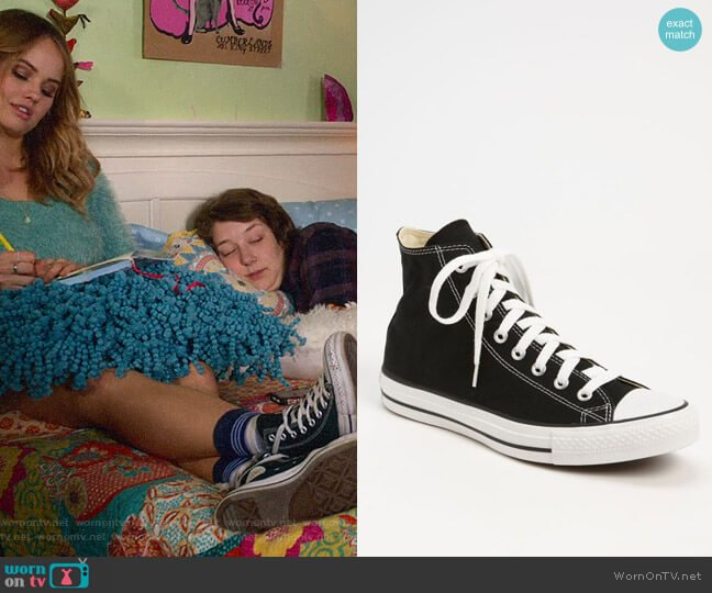Converse Chuck Taylor High Top Sneakers worn by Patty Bladell (Debby Ryan) on Insatiable