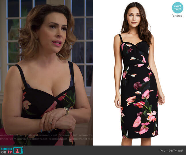 Daria Dress by Black Halo worn by Coralee Armstrong (Alyssa Milano) on Insatiable