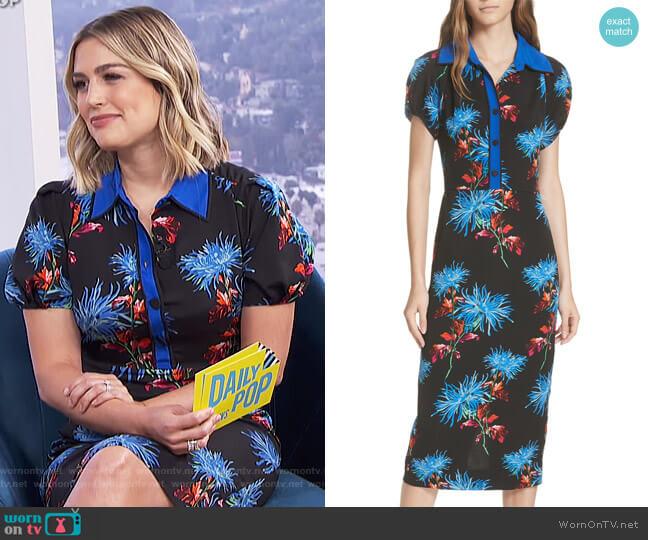 Elly Floral Dress by Diane von Furstenberg worn by Carissa Loethen Culiner  on E! News