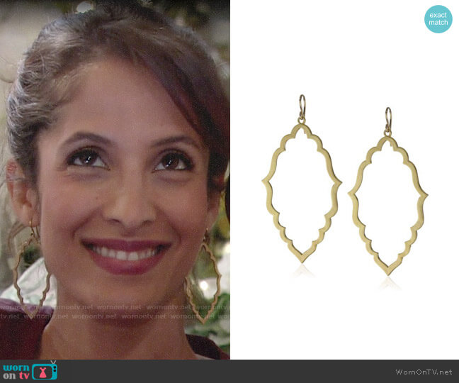 Dogeared Moroccan Hoop Earrings worn by Christel Khalil on The Young & the Restless