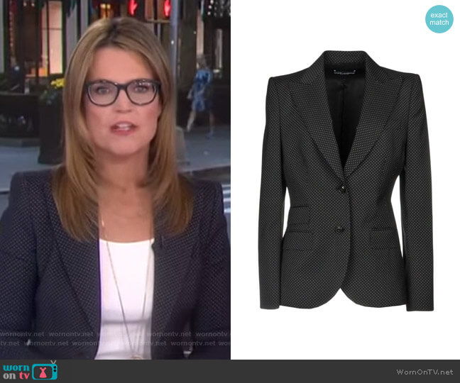 Polka Dot Blazer by Dolce & Gabbana worn by Savannah Guthrie on Today