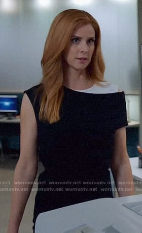 Donna's black and white dress on Suits