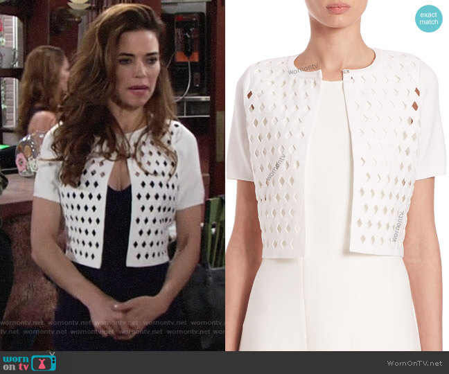 Kierney Sweater by Elie Tahari worn by Amelia Heinle on The Young & the Restless