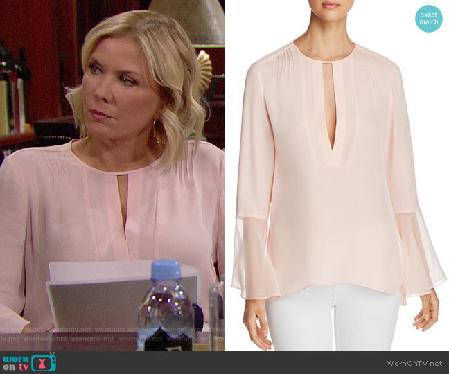 Elie Tahari Owen Blouse worn by Katherine Kelly Lang on The Bold & the Beautiful