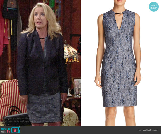 Elie Tahari Pacey Dress worn by Nikki Reed Newman (Melody Thomas-Scott) on The Young & the Restless