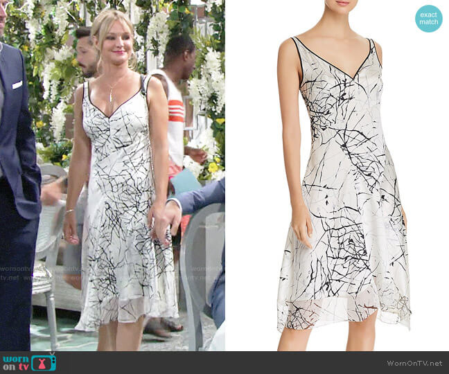 Elie Tahari Seldana Dress worn by Sharon Case on The Young & the Restless